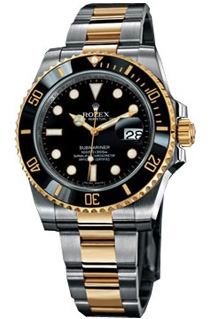 Rolex Submariner 40mm Steel and Yellow Gold Ceramic